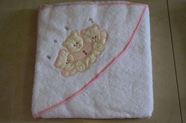 Toalha de bebe em rosa