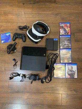 PS4 + vr + kontroler + gry
