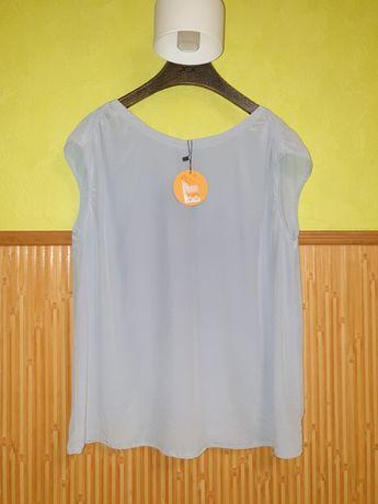 Новая Hugo Boss шелк 100% оригинал блуза M-L рубашка сорочка платье 38