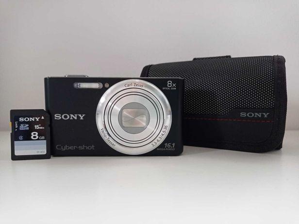 Câmara Digital Sony Cyber-Shot DSC-W730 Preta + Bolsa + Cartão SD 8Gb