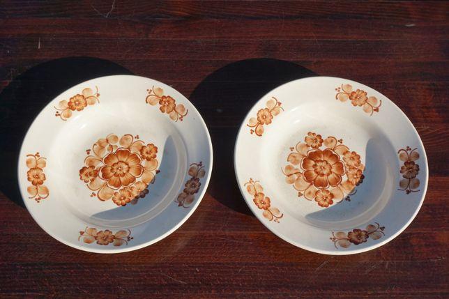 Włocławek talerz fajans ręcznie malowany