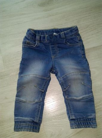 Joggersy chlopięce spodnie F&F rozm. 6-9 msc. Stan bdb