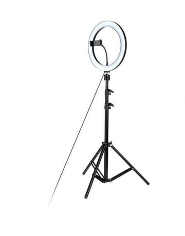 Кольцевая лампа светодиодная LED лампа 30 см со штативом