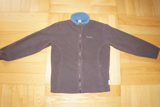 bluza rozpinana polarowa Decathlon Quecha r. 122 wiek 8 lat