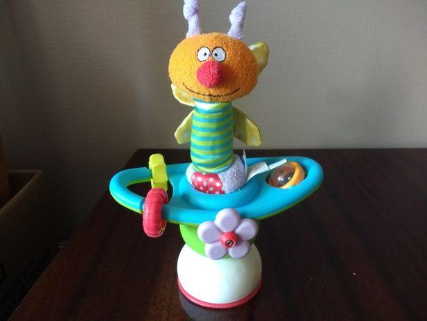 Игрушка на присоске на столик для кормления,TafToys Цветочная карусель