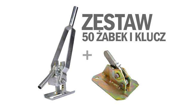 Zestaw żabki szalunkowe 50 szt klucz zaciski sprężynowe SZYBKA WYSYŁK