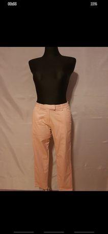 Spodnie rozmiar M typu cygaretki kolor różowy