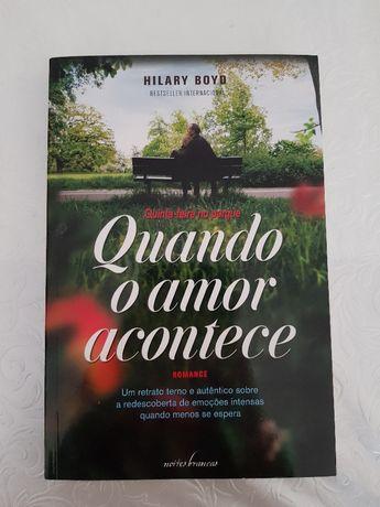 Livro - Quando o amor Acontece - Hilary Boyd