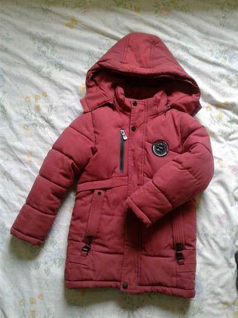 Куртка зимняя для мальчика 110-116см