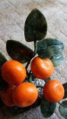 Дерево мандариновое декоративное из камня