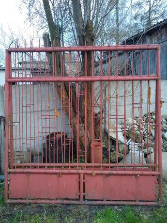 Brama metalowa dwuskrzydłowa 4m x 2m gruba ciężka malowana podkładem