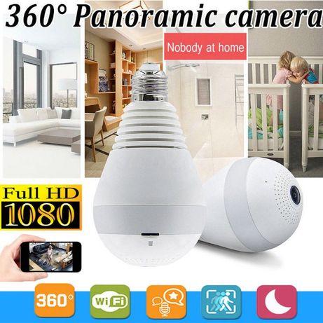 CÂMERA Lâmpada 360º c/ APP - WIFI CCTV Vídeo Vigilância 1080P 2MP NOVO
