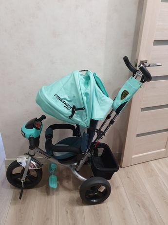 Трёхколёсный велосипед с родительской ручкой crosser one