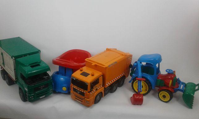 Zabawki tir przyczepa ciężarówka koparka samochód do piaskownicy