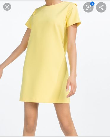 Zara mini sukienka żólta