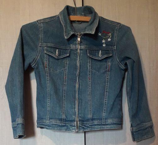 Kurtka jeansowa dziecięca, rozm.128