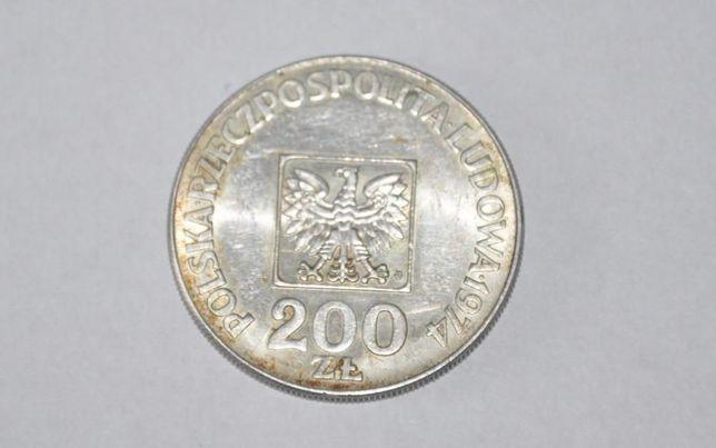 SREBRNA MONETA XXX LAT PRL 200zł 1974r srebro Kolekcjonerska Zabytkowa