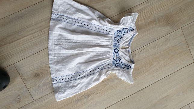 Bluzeczki, biale Next rozmiar 110