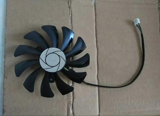 Вентилятор (кулер) HA9010H12F-Z для видеокарт MSI, 85мм 4-пин