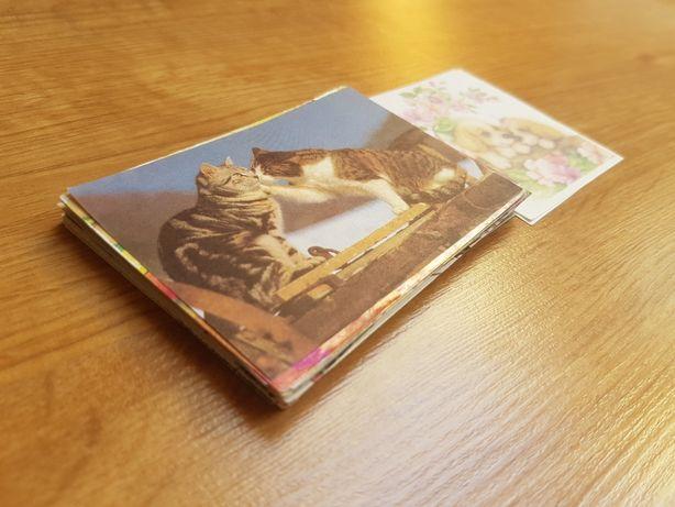 Zestaw starych karteczek kolekcjonerskich