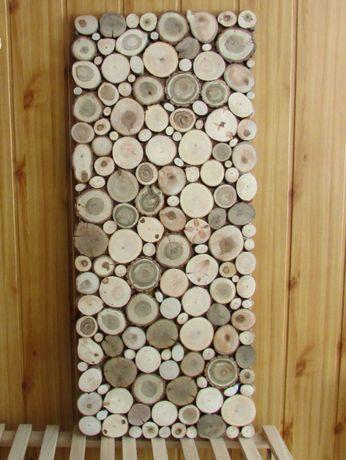 панно з поперечних зрізів дерева панно из спилов торцевой срез декор