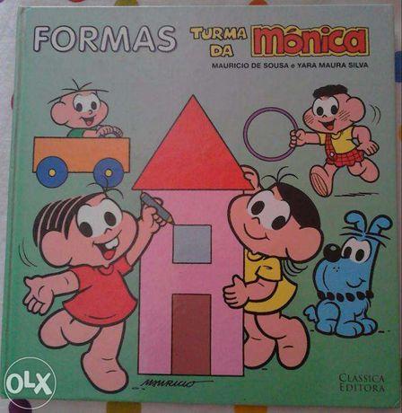 Livro Formas - turma da Mônica