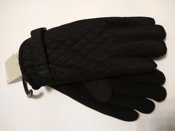 Женские красивые стеганые перчатки флис FF