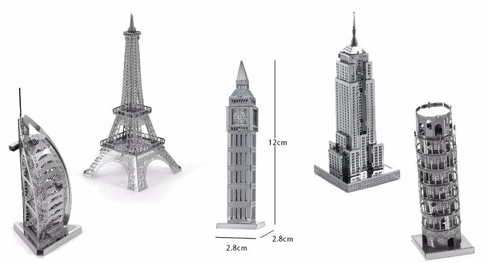 Башни 3D металлический конструктор головоломка для детей Приднепровск Днепр - изображение 1