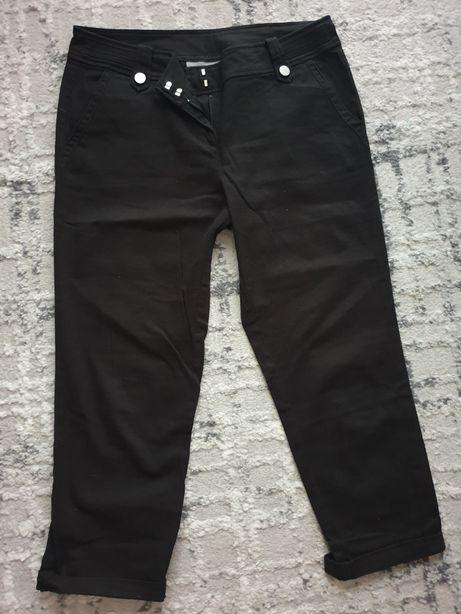 Czarne spodnie przed kostkę rozmiar 40.