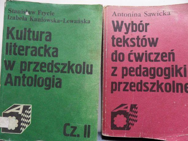 Kultura literacka w przedszkolu, Wybór tekstów do cwiczeń z pedagogiki