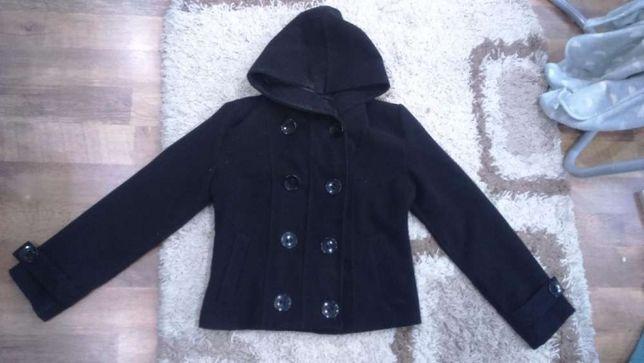 kurtka płaszczyk czarny zimowy damski rozm. M/L