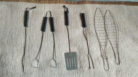 Sztućce do grilla, narzędzia do grilowania, przyrządy, zestaw 5 części