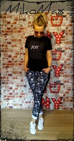 MikoMax spodnie dresowe lampasy czachy wszystkie rozmiary