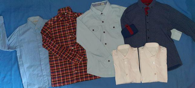 Рубашки в школу на 7-9 лет, белые рубашки на 6-8