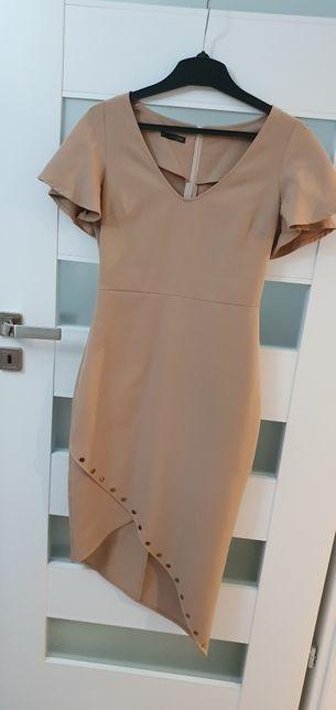 Sukienka elegancka asymetryczna