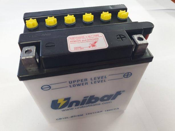 Akumulator Unibat CB10L-B2 YB10L-B2 11Ah 160A 12V NOWY