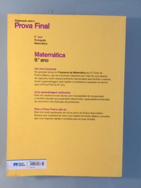Livro de preparação para exames 9 ano português e matemática