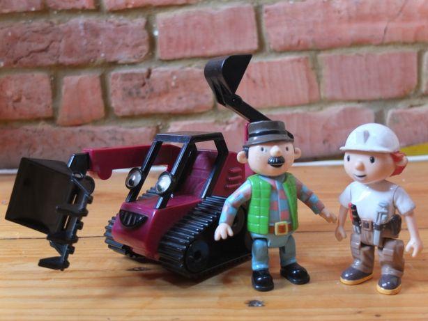 Bob Budowniczy Koparka Benny 2 figurki gratis Pan Ogórek i Małgorzata
