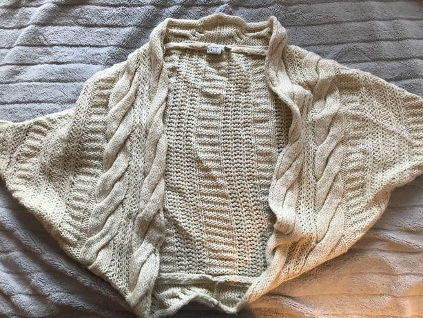 ESPRIT sweter swetr narzutka ALPAKA nietoperz beżowy waniliowy M / L