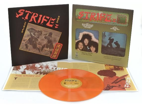 Strife - Rush LP Yellow with Orange/Red Marbled