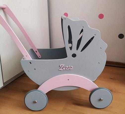"""Drewniany wózek dla lalek """"Bebe"""" - firmy Bebis Handmade - Promocja !!!"""