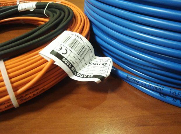 Электрический теплый пол под плитку кабель тонкие маты