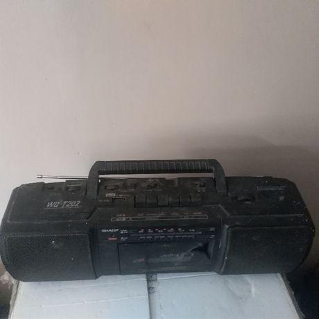 radio + schemat Radiomagnetofon Sharp WQT202