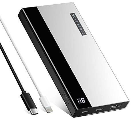NOVO! POWERBANK 20000mAh, USB-C e lightning