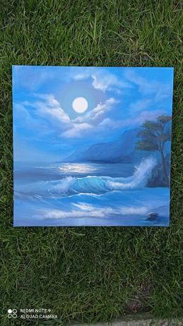 Картина масло, море,нічне море,живопис море