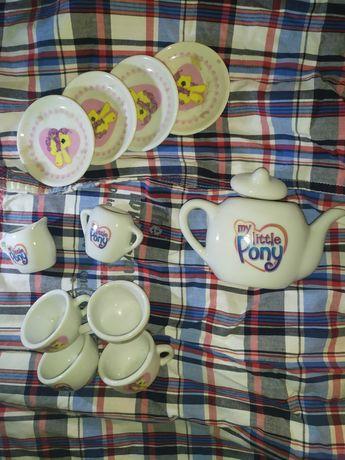 Zestaw porcelany zabawkowej my little pony filiżanki herbatka imbryk