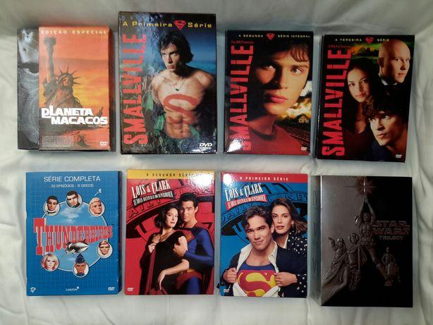 Star Wars Smallville Louis & Clark Planet Apes DVD Vários
