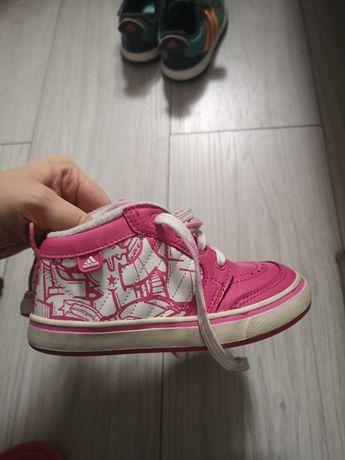 Buty różowe adidas rozm. 26 za kostkę adidasy dziewczęce