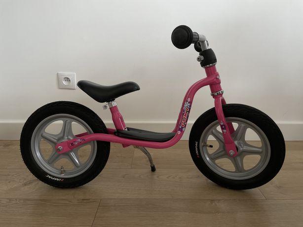 Rowerek biegowy LR 1L ze stopka różowy