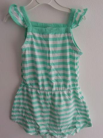 Kombinezon rampers sukienka na ramiączka lato